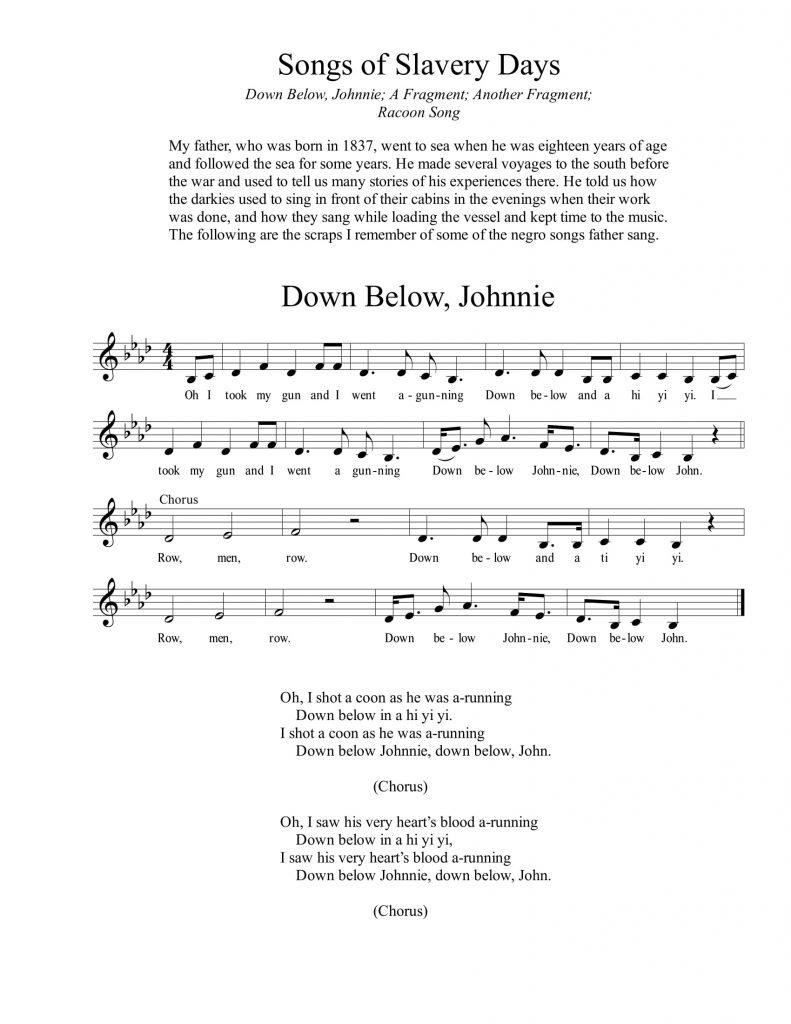 Songs of Slavery Days-1