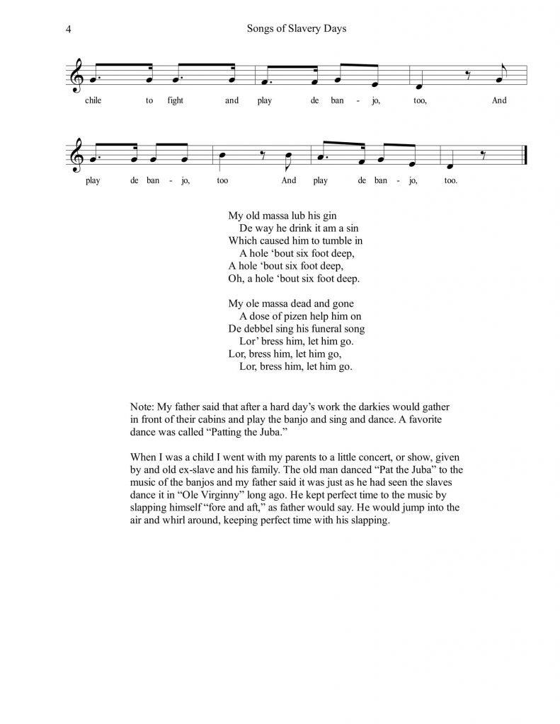 Songs of Slavery Days-4