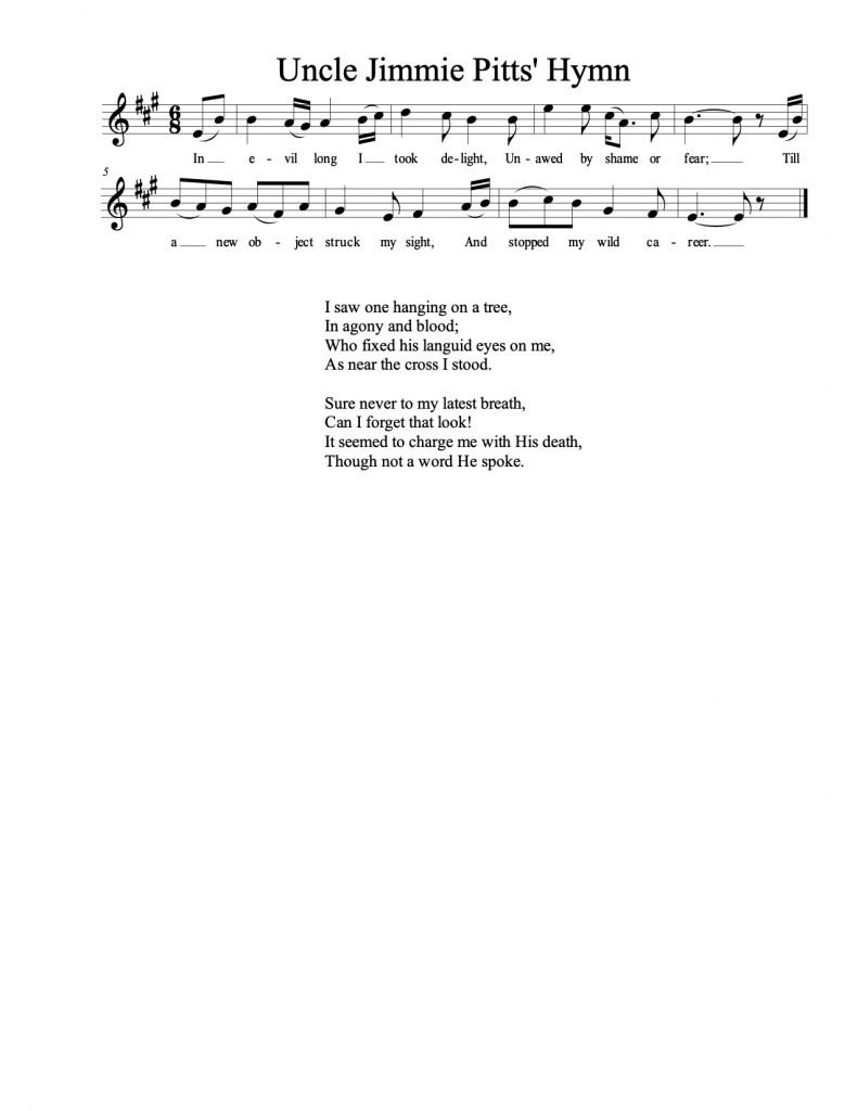 Uncle Jimmie Pitt's Hymn